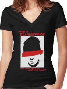 Who is Blurryface? Women's Fitted V-Neck T-Shirt