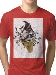 chocolate dip Tri-blend T-Shirt
