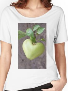 heart apple on tree Women's Relaxed Fit T-Shirt