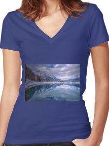 Bludenz (Vorarlberg, Austria) Women's Fitted V-Neck T-Shirt