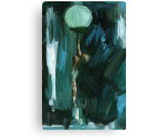Art Deco Lamp Lady Canvas Print