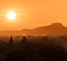 Bagan Sunrise by Johannes Valkama