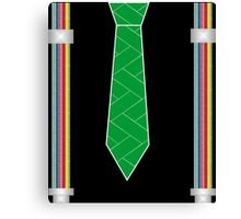 funny father's day novelty suspenders fake necktie  Canvas Print