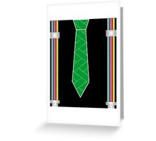 funny father's day novelty suspenders fake necktie  Greeting Card