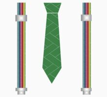funny father's day novelty suspenders fake necktie  Kids Clothes