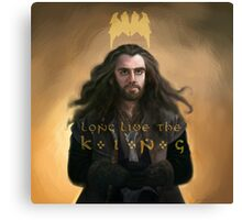 "Thorin Oakenshield Long Live the King ""The Hobbit"" Canvas Print"