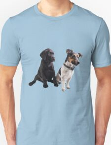cute little dogs sitting Unisex T-Shirt