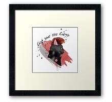 """God save the catnip"" Framed Print"