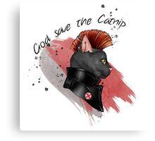 """God save the catnip"" Canvas Print"
