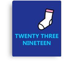Twenty Three Nineteen Canvas Print