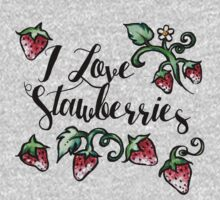 I love strawberries Kids Clothes