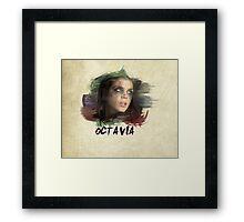 Octavia - The 100 - Brush Framed Print