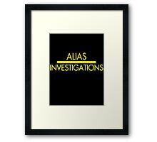 Alias Investigations Framed Print