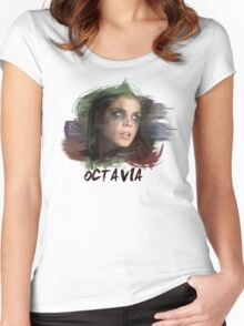 Octavia - The 100 - Brush Women's Fitted Scoop T-Shirt