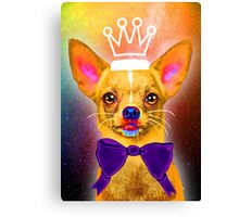 Chihuahua in universe Canvas Print