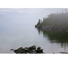 Misty Lake Photographic Print