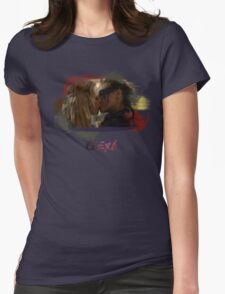 Clexa - The 100 - Brush Kiss Womens Fitted T-Shirt