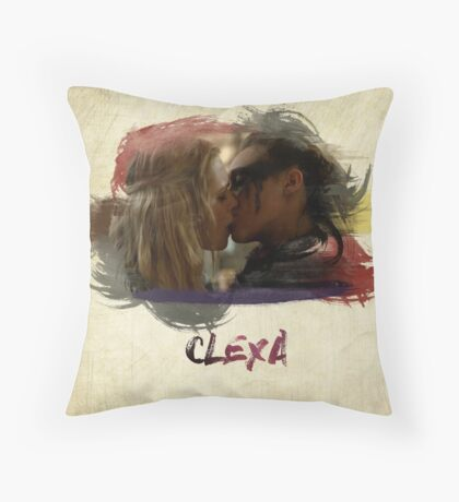 Clexa - The 100 - Brush Kiss Throw Pillow