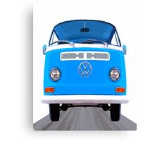 Classic VW Van On The Open Road Canvas Print