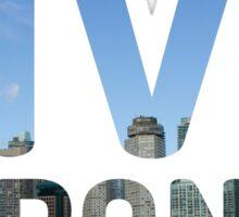 TORONTO ! Live Toronto! Sticker
