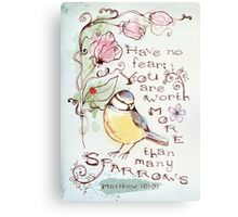 You Are Worth More Than Many Sparrows Metal Print