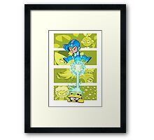 Inspired by Megaman Framed Print