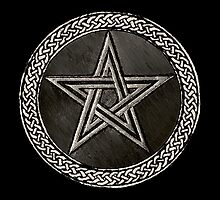 Pentacle Celtic Circle (silver) by Bela-Manson