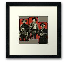 Blondie, Tuco and Angel Eyes Framed Print