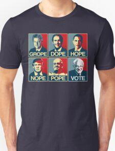 Grope Dope Hope Nope Pope Vote Bernie T-Shirt