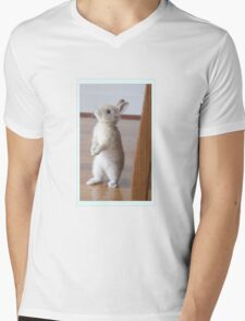 Bunny rabbit - Giving Thumper a run for his money Mens V-Neck T-Shirt