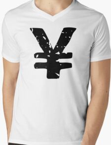 Yen Symbol Mens V-Neck T-Shirt