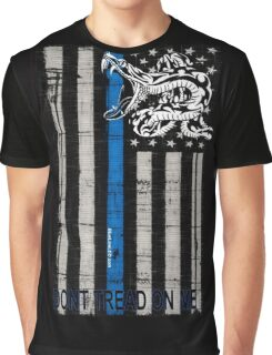 Blue Line LEO Dont Tread On me Graphic T-Shirt