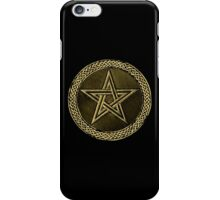 Pentacle Celtic Circle -  gold / copper  iPhone Case/Skin