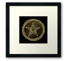 Pentacle Celtic Circle -  gold / copper  Framed Print
