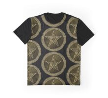 Pentacle Celtic Circle -  gold / copper  Graphic T-Shirt