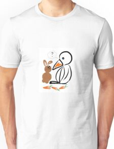 Penguin and bunny Unisex T-Shirt
