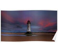 Talacre Sunset. Poster