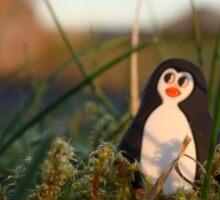Penguin basking in twilight Sticker
