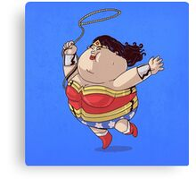 Wonder Women Got Fat Canvas Print