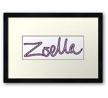 Zoella - Pink & Purple Print Framed Print