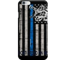 Blue Line LEO Dont Tread On me iPhone Case/Skin
