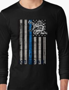 Blue Line LEO Dont Tread On me Long Sleeve T-Shirt