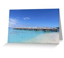 Water Bungalows by the beach Greeting Card