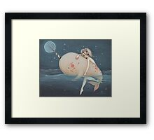 The Narwhal fairy sprite Framed Print