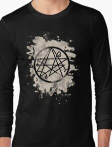 Necronomicon bleached Long Sleeve T-Shirt
