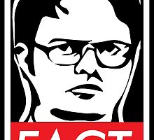 """The Office: Dwight """"FACT' Obey by Wellshirt"""