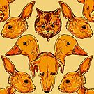 Cute animals pattern by Nicolae Negura