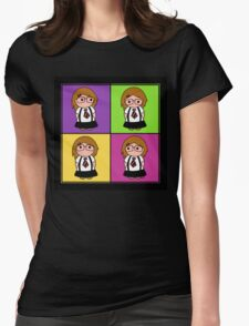 Tie Girl Liz Squared Womens Fitted T-Shirt