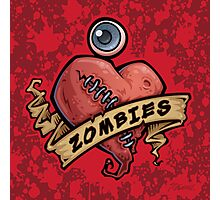 I Love Zombies... with Blood Photographic Print