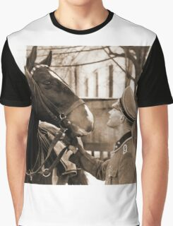 German Elite soldier and his Horse during WW2 Graphic T-Shirt